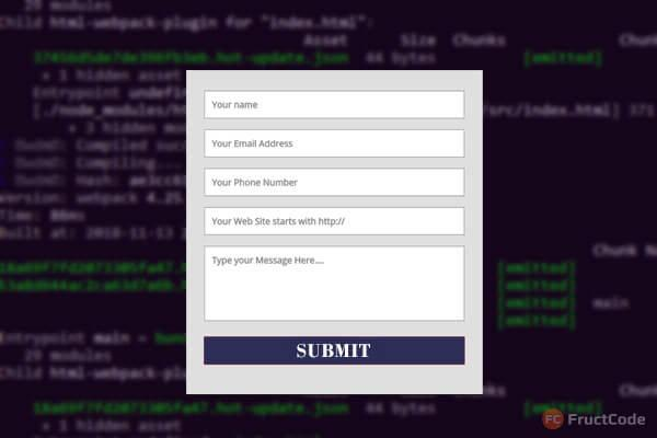 ajax form jquery php fructcode
