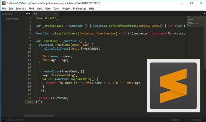 Fructcode Sublime Text настройка, установка